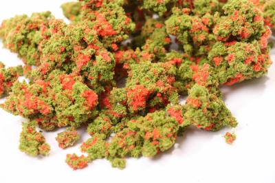 Комковой фолиаж. Красные цветы для макета.