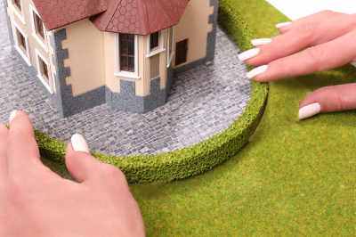 Живая изгородь для макетов светло-зеленая  2 шт. (10x20мм.)