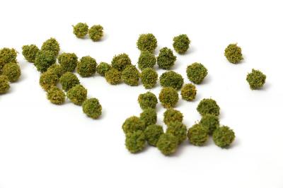 Антуражные шарики для макета светло-зеленые. 20шт.