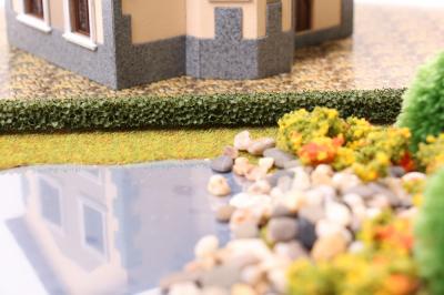 Живая изгородь для макетов темно-зеленая 2 шт. (10x10 мм.)