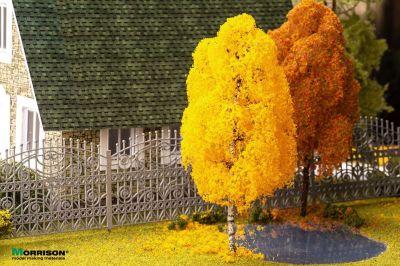 15 см. Осенняя берёза для макета