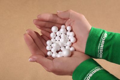 Маленькие пенопластовые шарики для макета. Набор 40 штук.