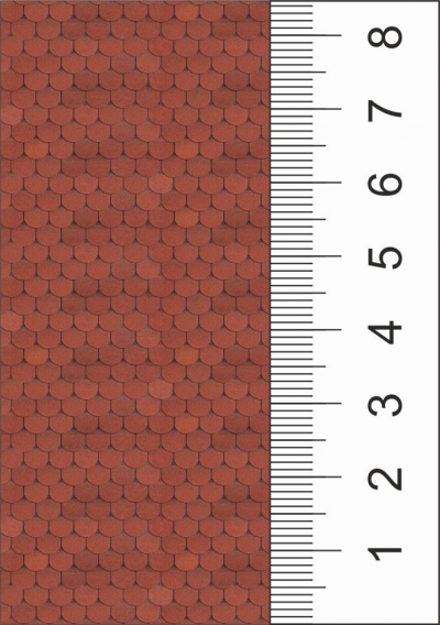 Текстура красной черепицы для макета дома