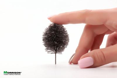Миниатюрные деревья для макета серебристо-серого цвета. Набор 20 штук.