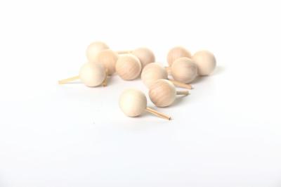 Деревянные шарики на палочке для макетов Ø=2см.