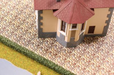 Самоклеящаяся текстура булыжника для макетов (А4)