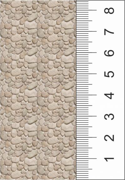 Самоклеящаяся текстура светлого булыжника (лист А4)