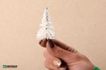 Белые ёлочки для архитектурных макетов. Набор 10 штук.