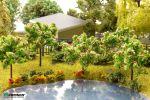 Нежно-розовое цветущее дерево 5 см.