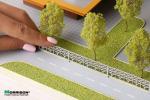 H=13 мм. миниатюрное садово-парковое ограждение для макетов