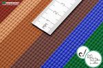 Металлочерепица для макета в масштабе 1/120 (ТТ)