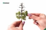 Тёмно-зеленая листва для изготовления макетов деревьев. (Набор 4 шт. 9х15 см.)