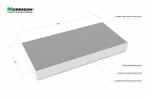 0,5м. х 1м. Плита подмакетник для архитектурного макета