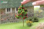 Фруктовое дерево для макета с красными плодами. Высота 10 см.