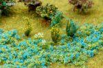 """Цветочная присыпка для макета """"Синие цветы"""""""