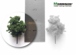 2 см. Дерево для архитектурного макета (темная крона)