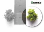 2 см. Дерево для архитектурного макета (светлая крона)