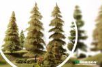 Дремучая ель для макета леса своими руками 25 см.