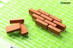 Форма со сборочным шаблоном для изготовления мини-кирпичиков в масштабе 1:12