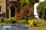 Красный куст для макета леса или цветущего сада