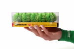 Миниатюрные деревья для макетов. Солнечная зелень. Набор 20 штук.