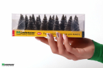 """""""Голубые ели"""" - миниатюрные ёлочки для макета серебристо-серые. Набор 20 штук."""