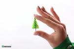 Миниатюрные ёлочки для макета. Солнечный зелёный. Набор 20 штук.