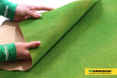 Имитация травы для макета в рулонах «Яркая зелень» (60х85 см.)