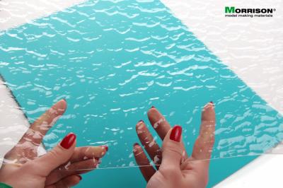 """""""Морские волны"""" - прозрачная имитация воды для макетов и диорам (Лист А3- 28см.х38см.)"""