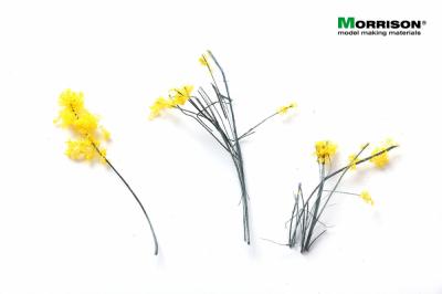 Цветочные ленты для макета. Желтые соцветия.